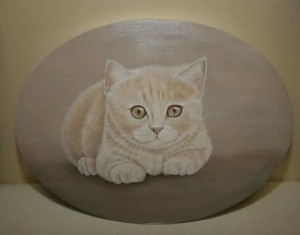 Wall decoration panno Cat. Painting by Russian artist Maria Emelyanova
