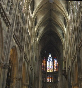 Cathedral of Saint Etienne in Metz, capital of Lorraine. Marc Chagall Stained Glass windows