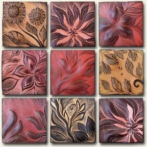 Samples of ceramic tiles