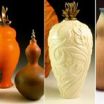 Variety of shapes and patterns, ceramic vases