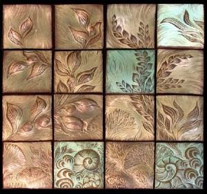 Panno of ceramic tiles