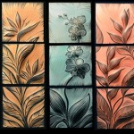Flowers and plants Ceramic tiles