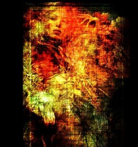 Burning Flame. Graphic art by Salim Ljuma