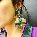 Jewellery lover Ilyasha Ilyaeva wearing Iradj Moini earrings