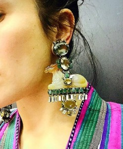 Jewellery lover Ilyasha Ilyaeva wearing Iradj Moini earrings