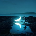Private Moon installation by Leonid Tishkov
