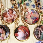 Miniature copies of paintings in jewelry