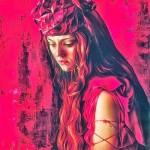 Expectation. Scarlet portrait