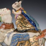 Closeup. Rabbits. Porcelain by Irina Zaitceva
