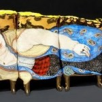 On a sofa. Beautiful Porcelain art by Russian artist Irina Zaitceva