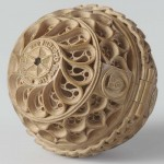 Ancient Prayer Nut medieval wood carving art