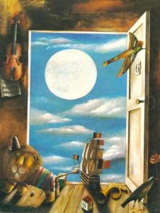 Opened door. 1982