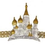 St. Bazil's Cathedral bracelet by Ilyasha Ilyaeva. Materials silver, gilt
