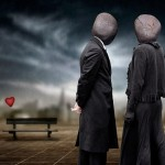 "Inspired by Rene Magritte ""The blind date"""