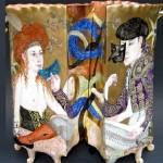 Venetian date Double Vase