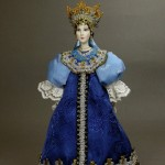 Artist SY Krishtan – Doll in Russian costume. Biscuit porcelain, textiles, acrylic paint