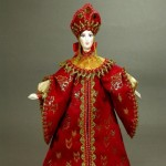 National costume. Russian doll, handmade. Biscuit porcelain, textiles, acrylic paint. Artist SY Krishtan