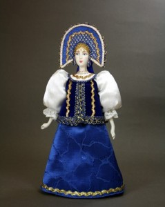 IV Bannikova. Doll in Russian costume. Biscuit porcelain, textiles, acrylic pain