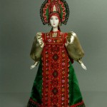 Made of Biscuit porcelain Russian doll. Textiles, acrylic paint. Author IV Bannikova