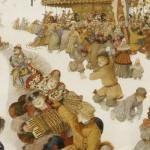 Closeup, Russian winter, detail