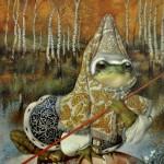 Fabulous illustration. The Frog princess