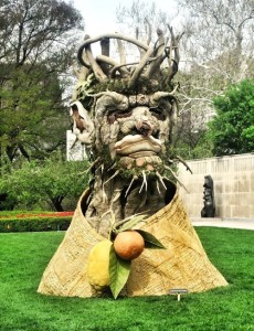 Winter, Arcimboldo sculpture by Philip Haas