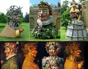 Gallery of Giuseppe Arcimboldo sculptures by Philip Haas