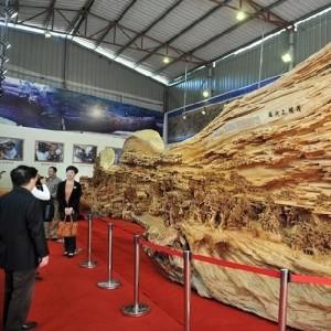 Unique wooden sculpture