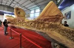 Guinness Records wooden sculpture