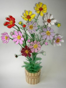 Beaded Flowers by Svetlana Kosheleva