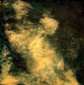 Misty road. Rock art by Russian artist Min Klementiev