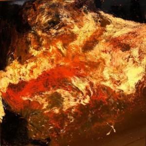 Flames. Rock art by Russian artist Min Klementiev