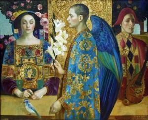 Annunciation. Oil on canvas. 2014. Oil on canvas. Painting by St. Petersburg based artist Olga Suvorova