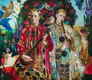 Minstrelsy. Painting by Olga Suvorova
