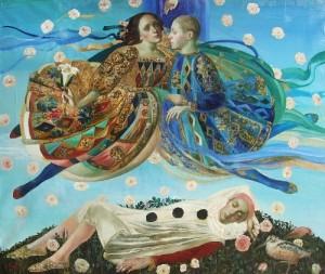 Flying above. Painting by Olga Suvorova