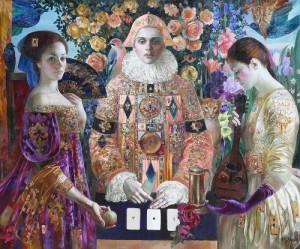 Card game. Painting by Olga Suvorova