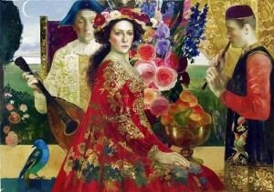 Muse. Painting by Olga Suvorova