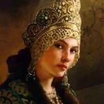 Portrait of a beautiful girl in kokoshnik – traditional Russian headwear
