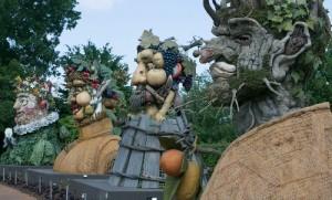 Four Seasons sculpture. Arcimboldo sculptures by Philip Haas