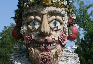 Spring sculpture closeup