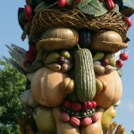 Summer from Four seasons. Arcimboldo sculptures by Philip Haas