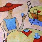 Julia Latte coffee painting