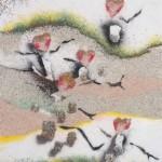 sand. Japanese artist Ako Tsubaki