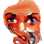 Fragment of face. Crochet art by Ekaterina Penzina