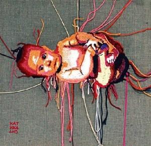 A baby. 2015. Crochet art by Ekaterina Penzina