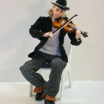 German musician David Garrett doll. Work by Yekaterinburg based artist of applied art Larisa Isayeva