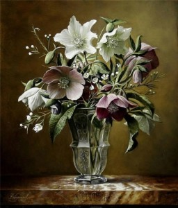 Exquisite bouquet of Flowers. Still life painting by Pieter Wagemans