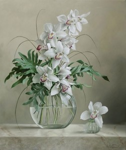 Still life with flowers, painting by Pieter Wagemans