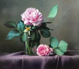Roses. Still life painting by Pieter Wagemans