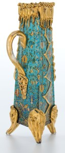 lue and gold Moser Glass Crystal